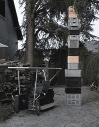 photo du Vhéliotech avec la capacité de rangements